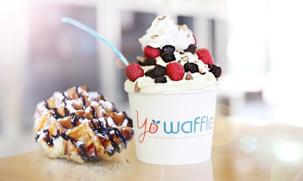 $12 for Frozen Yogurt and Gourmet Waffles at Yo Waffle ($20 Value)