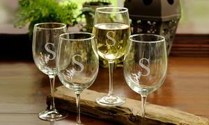 Monogram Online Personalized Wine Glasses