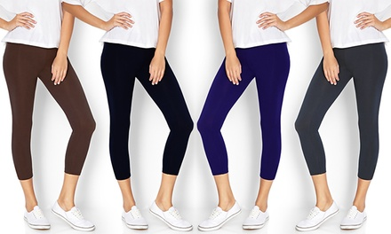 Women's Stretch Capri Leggings (6-Pack)