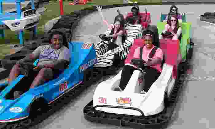 The Zone - Rocky Mount: Fun-Park Package for Two or Four with Go-Karts, Mini Golf, and Batting-Cage Tokens at The Zone (Up to 46% Off)