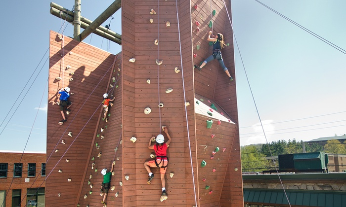 Rock Dimensions - Downtown Boone: Rock Climbing on Outdoor Tower with Shoe Rental for One or Four at Rock Dimensions (Up to 51% Off)