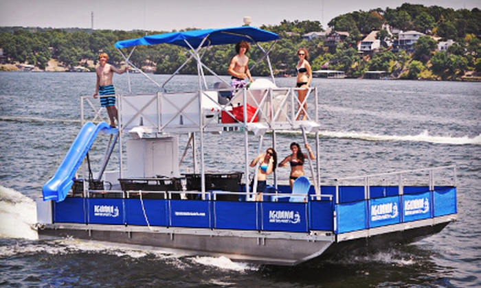 Iguana Watersports, Inc. - Multiple Locations: Full-Day Deluxe Tritoon Boat or Party Barge Rental at Iguana Watersports, Inc. (Up to 51% Off)