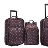 US Traveler 2-Piece Polka-Dot Carry-On Upright and Backpack