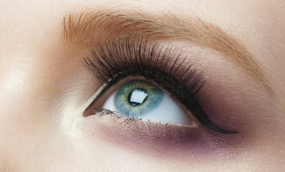 image for Full Set of Eyelash Extensions with Optional Eyebrow Shape and Tint at Madina Beauty (Up to 49% Off)