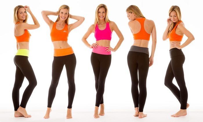 Yoga Leggings with Fold-Over Waistband: Yoga Leggings with Fold-Over Waistband. Multiple Styles Available.