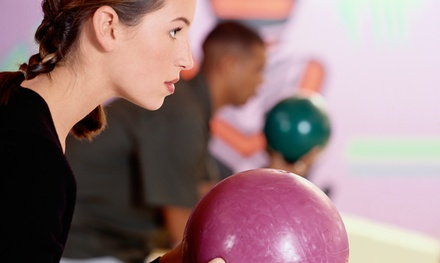 Bowling for 4 with Shoe Rental and Pizza at Bumpers Bowling & Family Fun Center (Up to 50%  Off).