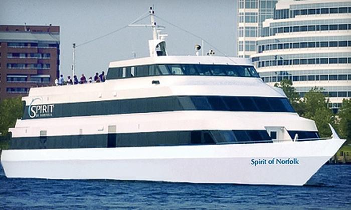 "Spirit of Norfolk - Norfolk: Dinner Cruise Aboard ""Spirit of Norfolk"" on Monday–Saturday or on Sunday (Up to 51% Off)"