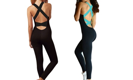 Women's Fitness Yoga Workout Jumpsuit