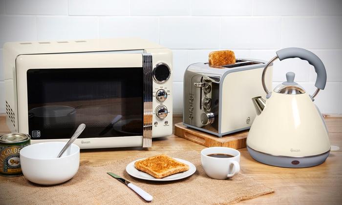 Swan three piece kitchen set groupon goods for Kitchen set groupon