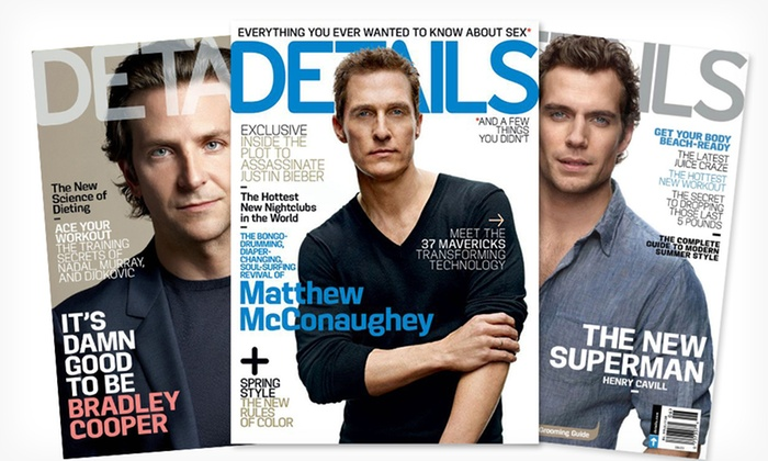 Details Magazine Subscription: $5 for a 1-Year, 10-Issue Subscription to Details Magazine ($9.97 List Price). Free Shipping.