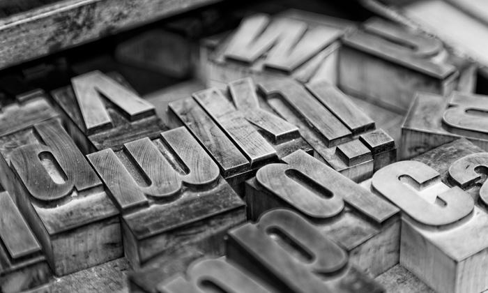 BYOB Letterpress Printing Class - Private Studio - Floyd A. Davis IV: Make Letterpress Posters with Vintage Wood Type