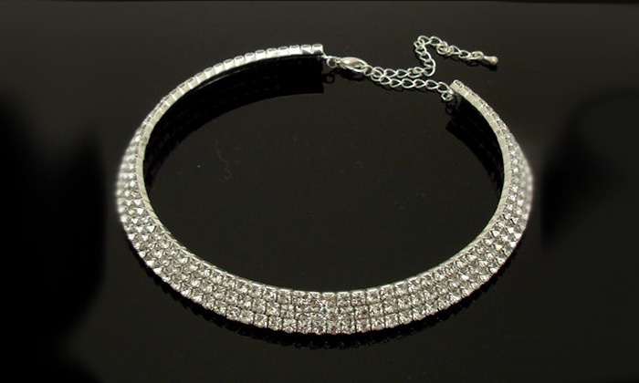 Groupon Goods: Crystal Wedding Bridal Choker Necklace for R199.99 Including Delivery (67% Off)