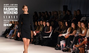 Fashion Weekend Sydney: Fashion Weekend Sydney: From $14 for Silver Ticket Entry with Choice of 29 Sep - 2 Oct Dates at Royal Hall of Industries