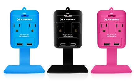 Xtreme 2-Outlet Dual-USB Wall Charger