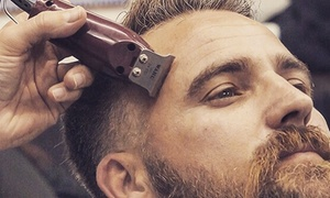 The Dog House Barbers: Men's Grooming: Haircut or Hot Towel Shave (£5) or Both (from £9) at The Dog House Barbers