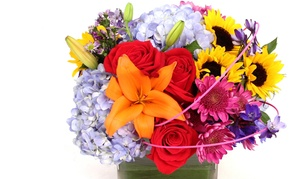 Field of Flowers: $83 for a Three-Part Floral Arrangement Class from Field of Flowers ($129 Value)