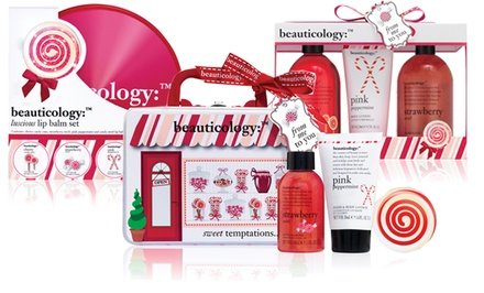 Chocolate and Candy-Cane Skincare and Bath Gift Sets. Multiple Options Available from $11.99–$26.99.