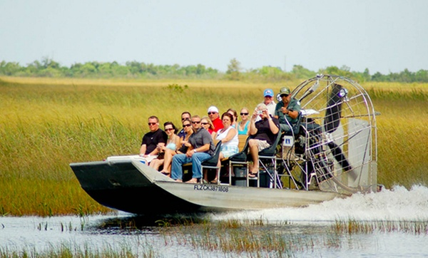 Coopertown Airboats - From $17 - Miami, FL | Groupon on golf carts pull type, golf car boat, shoes boat,