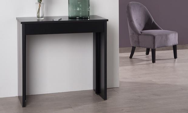 Consoles extensibles laqu es groupon shopping for Table a repasser largeur 52 cm
