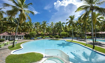 Groupon Deal: ✈ All-Inclusive Grand Paradise Samaná Stay w/ Air. Incl. Taxes & Hotel Fees. Price per Person Based on Double Occupancy.