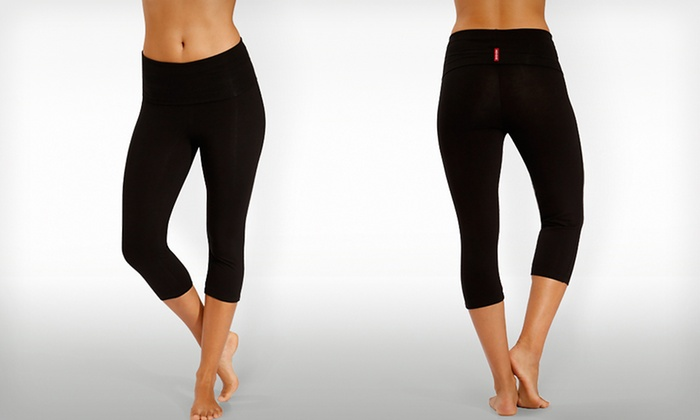 InTouch Bamboo Rollover Capris in Black: $19.99 for InTouch Bamboo Rollover Capris in Black ($78 List Price). Free Shipping and Returns.