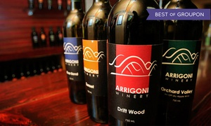 Arrigoni Winery: Wine Tasting with Cheese Plate and Souvenir Glasses for Two or Four at Arrigoni Winery (Up to 50% Off)
