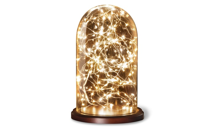 Glass Cloche With String Lights Groupon Goods