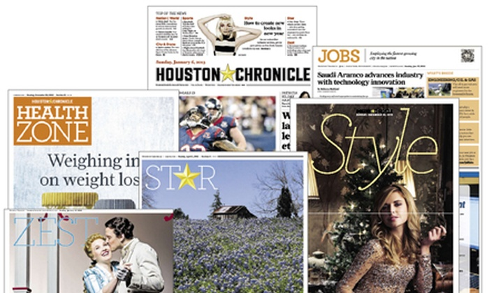 "Houston Chronicle: Six-Month or One-Year Sunday Subscription to the ""Houston Chronicle"" (Up to 81% Off)"