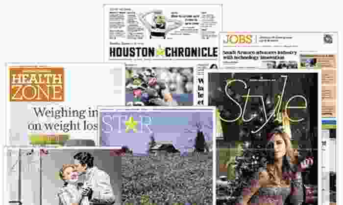 """Houston Chronicle: Six-Month or One-Year Sunday Subscription to the """"Houston Chronicle"""" (Up to 81% Off)"""