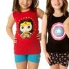 DC Comics or Marvel 2-Piece Girls Pajama Set