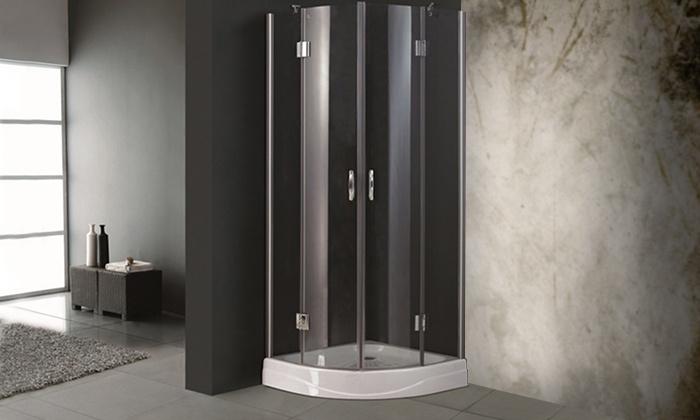 Cabine doccia in vetro temperato groupon goods - Cabine doccia in vetro ...