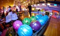 2 parties de bowling pour 2, 4 ou 6 pers et 1 salade ou 1 pizza ou 1 burger par personne dès 26,90 € chez Color Bowl 51