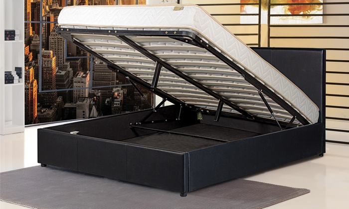 lit coffre prima avec sans matelas sleepflex groupon shopping. Black Bedroom Furniture Sets. Home Design Ideas