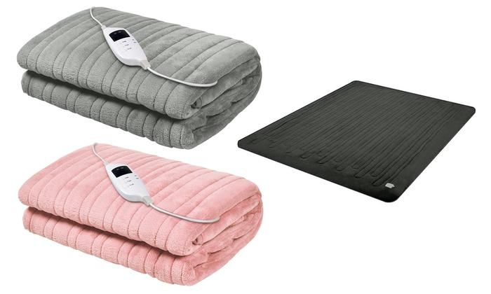 Electric Throw Rug Fleece Blanket   Groupon