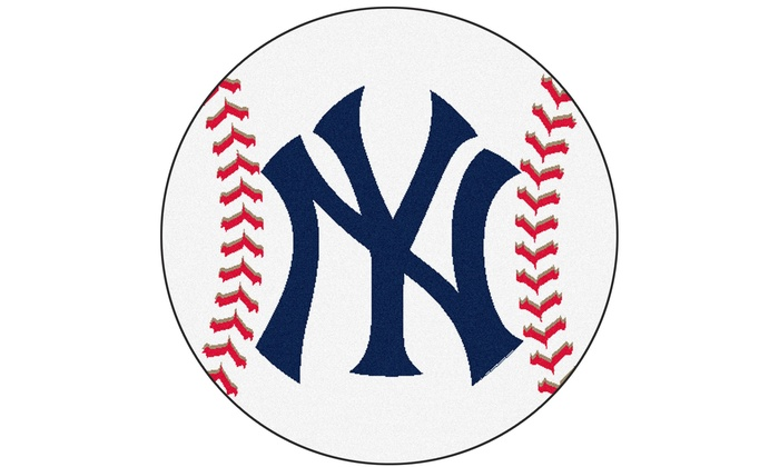 New York Yankees Nylon Baseball Mat: New York Yankees Nylon Baseball Area Mat
