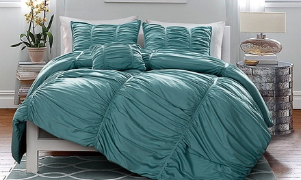 4-Piece Madeira Pleated Oversized Comforter Set
