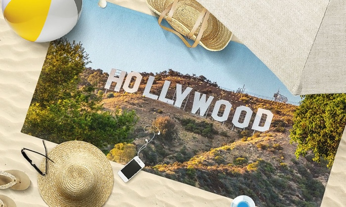 """Picture it on Canvas: Customized Hand Towel, 30"""" x 60"""" Beach Towel, or 36"""" x 72"""" Beach Towel from Picture it on Canvas (Up to 80% Off)"""