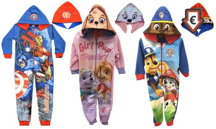 1bafbedbaa1fe Combinaisons-pyjamas réversibles Pat Patrouille,Disney et Avengers ...