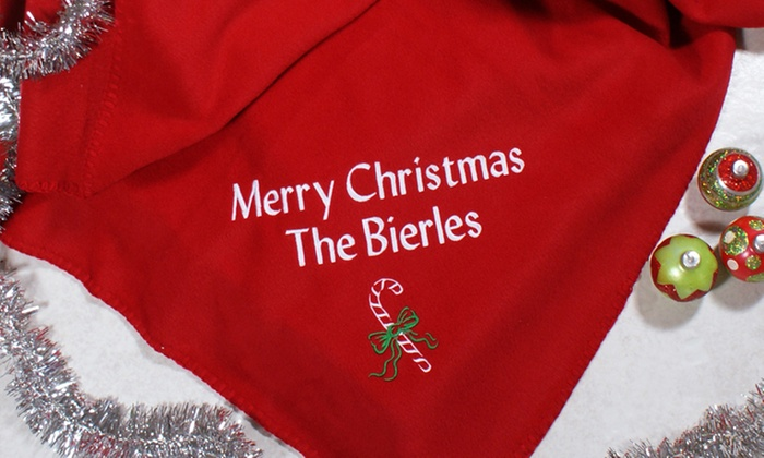 Giftsforyounow.com: One or Two Personalized Christmas Blankets from GiftsForYouNow.com (Up to 31% Off)