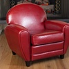 Hayley Colored Leather Club Chair