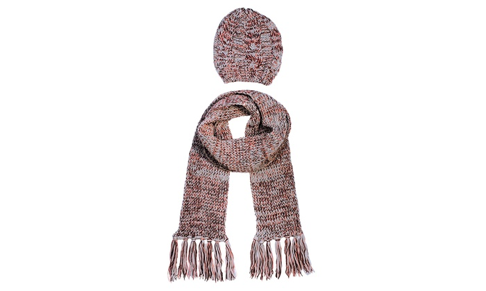 Jessica Simpson Women's Hat and Scarf Set : Jessica Simpson Women's Hat and Scarf Set (2-Piece)