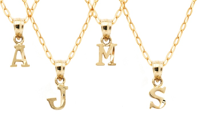 Limited time only 10k gold initial pendants groupon limited time only 10k gold initial pendants aloadofball Image collections