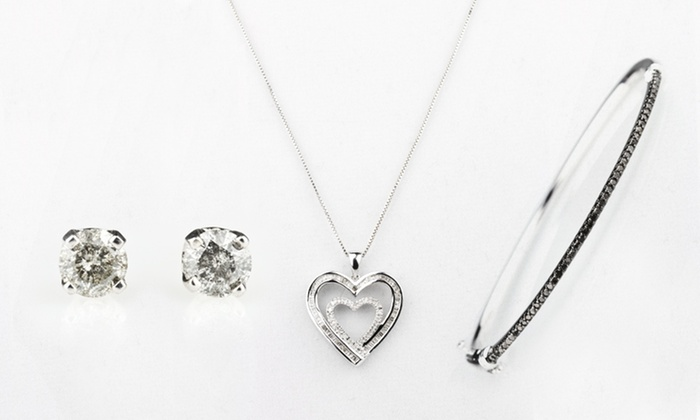 Black- and White-Diamond Jewelry: Black- and White-Diamond Jewelry (Up to 86%  Off). 12 Options Available. Free Shipping and Free Returns.