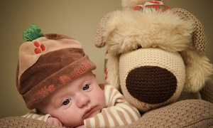 Clearvision Imagery: Festive Family Photoshoot with a Framed Image or Four 7x5 Prints of the same image (86% Off)