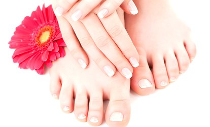 image for Shellac Manicure or Pedicure or Both at Pura Vida (Up to 74% Off)