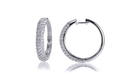 1/10-CTTW Diamond Hoop Earrings. Free Returns.