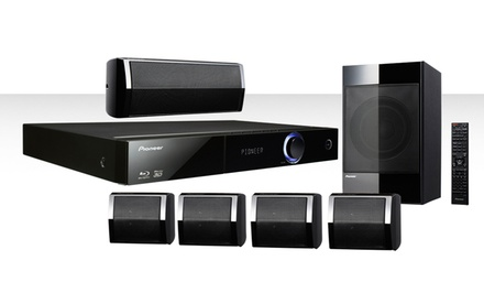 pioneer blu ray 5 1 home theater system with ipod cradle