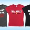 Women's Nurse T-Shirts in Regular and Plus Sizes