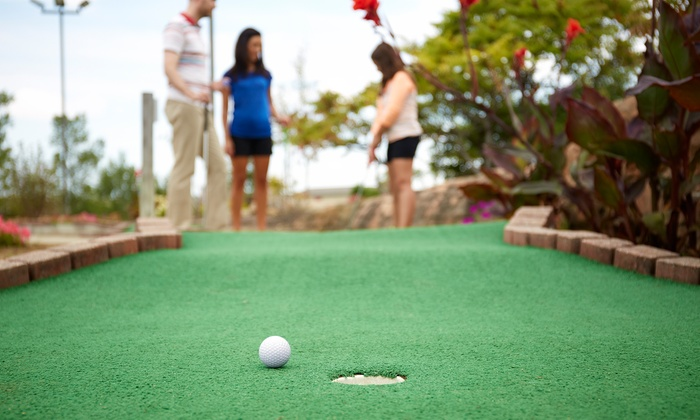 The HUB at Berens Park - Elmhurst: Mini-Golf, Batting-Cage Tokens, and Hot-Dog Combos for Two or Four at The Hub at Berens Park (Up to 50% Off)