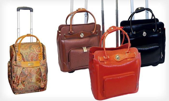Adrienne Vittadini Weekender Suitcases: $69.99 for an Adrienne Vittadini Rolling Suitcase ($360 List Price). Four Options Available. Free Shipping and Returns.